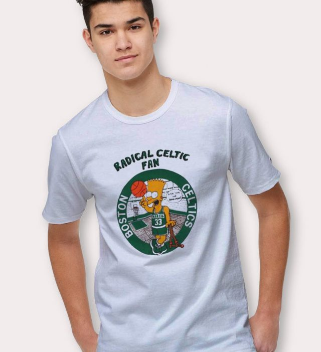 Bart Simpson Radical Celtic Fan Funny T Shirt