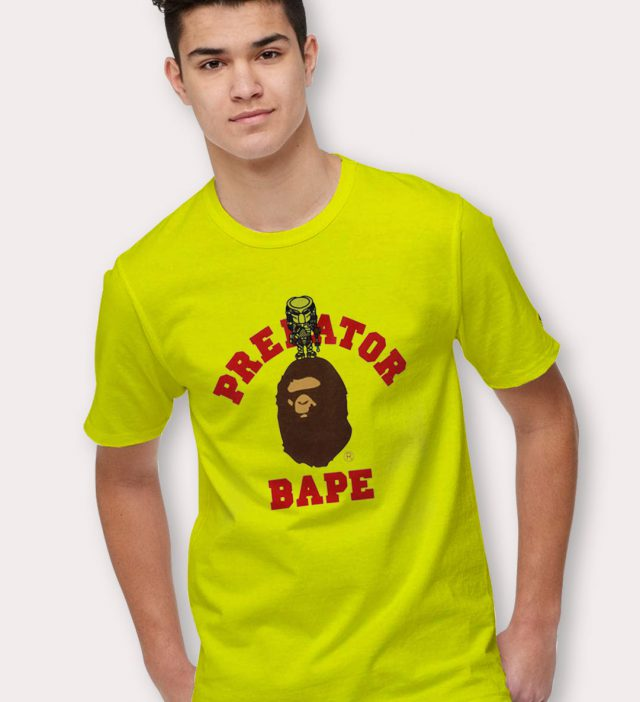 Bathing Ape X Predator T Shirt Collabs