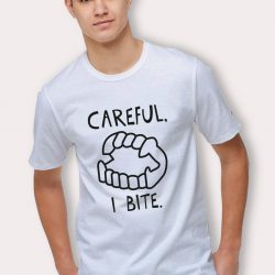 Careful I Bite Funny Halloween T Shirt