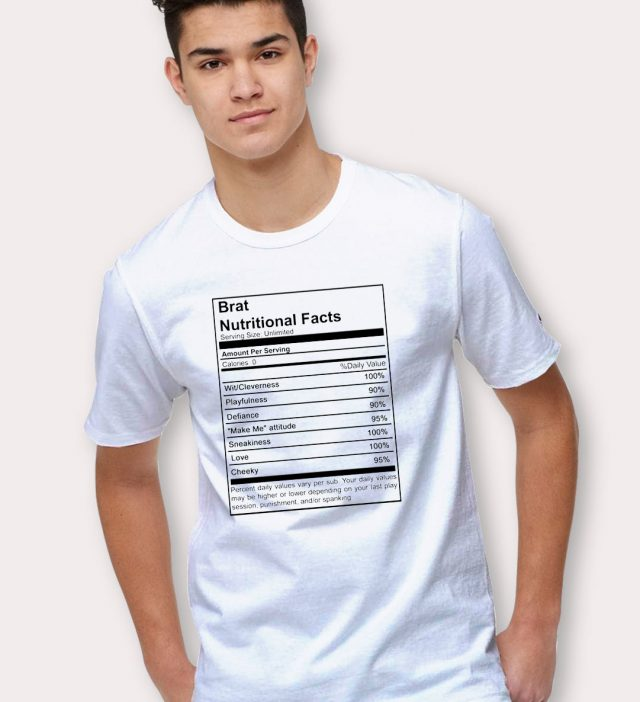Cheap Brat Nutritional Facts T shirt