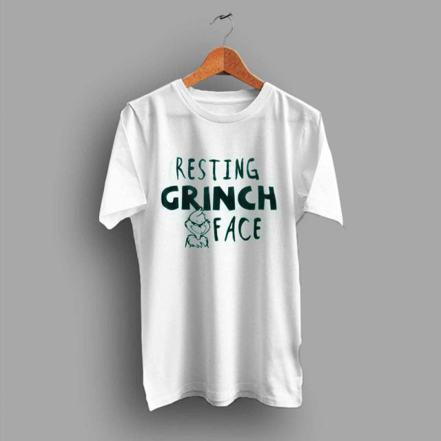 Cheap Resting Grinch Face Christmas T Shirt