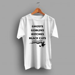 Ghosts Goblins Witches Black Cats Halloween T Shirt