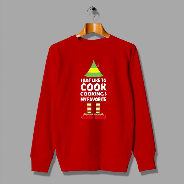 I Just Like To Cook ELF Christmas Sweater
