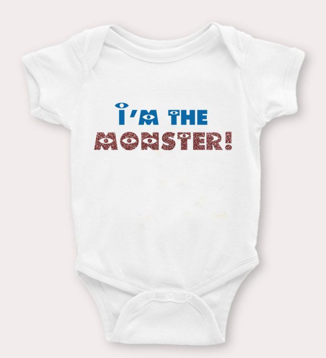 I'm The Monster Cute Baby Onesies