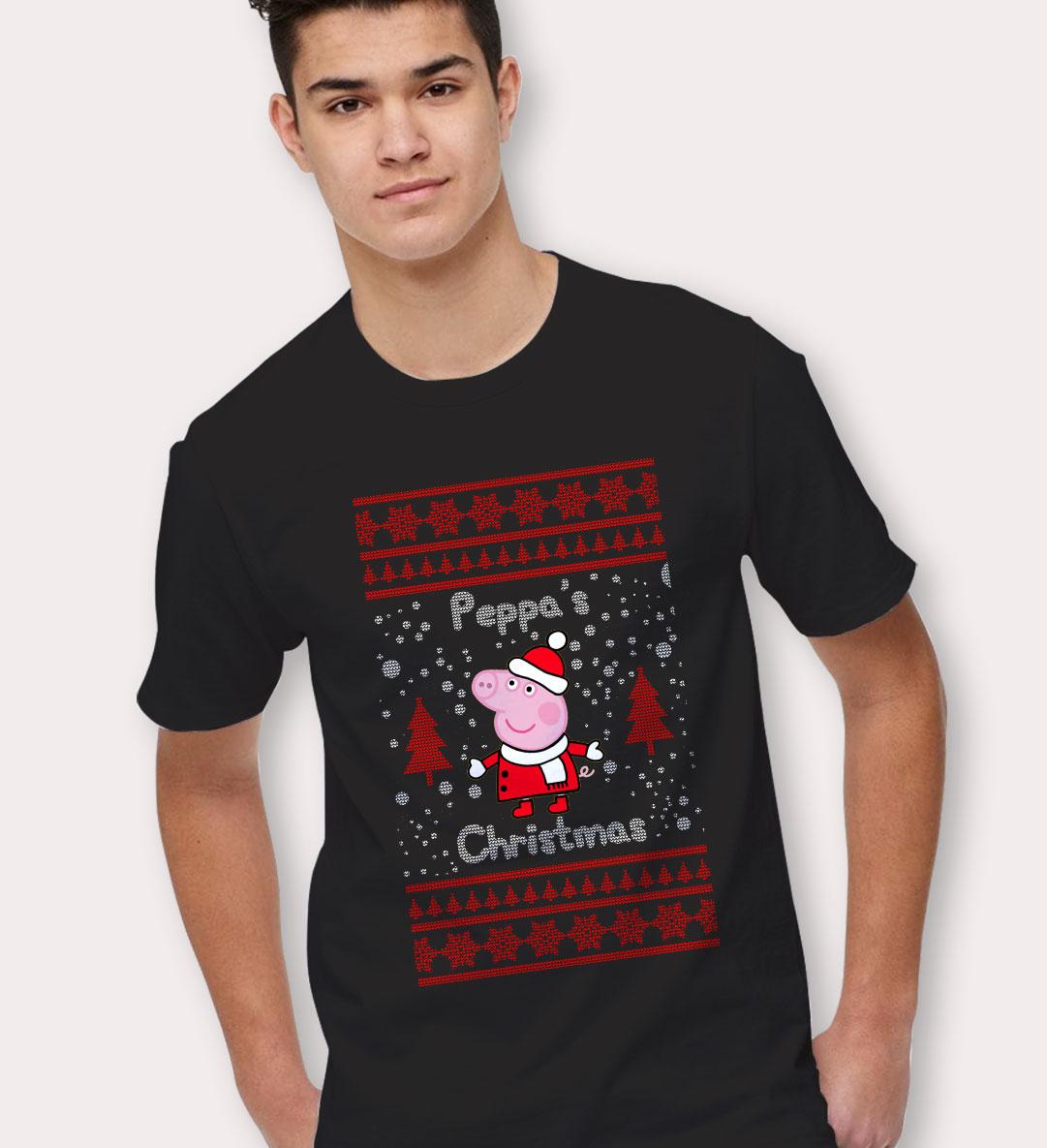 peppa pig ugly christmas t shirt - Ugly Christmas Tee Shirts