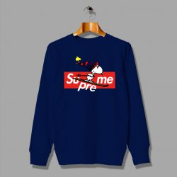Custom Supreme Snoopy Christmas Sweatshirt