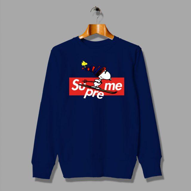 Custom Supreme Snoopy Christmas Sweatshirt