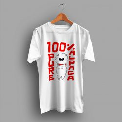 Cute 100% Pure Alpaca Funny T Shirt