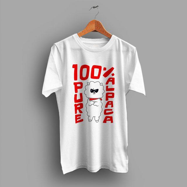 Cute 100% Pure Alpaca Funny T Shirt