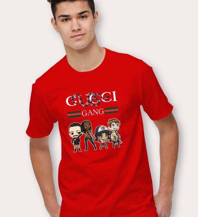 Gucci Gang Walking Dead Parody T Shirt