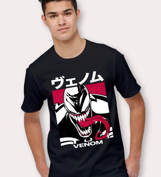 Japanese Venom Marvel Character T Shirt