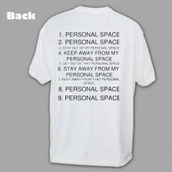 Stay Out Personal Space Graphic T Shirt_Back