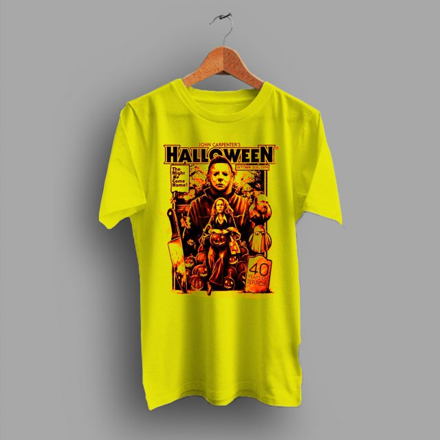 Vintage Halloween 40 Years Of Terror Heritage T shirt