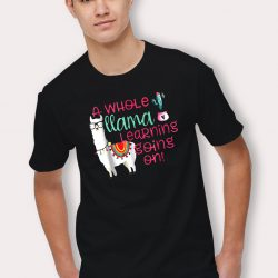 A Whole Llama Learning going On Cute T Shirt