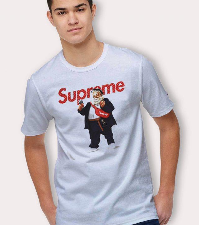 Best Supreme Santa Claus Selfie Urban T Shirt