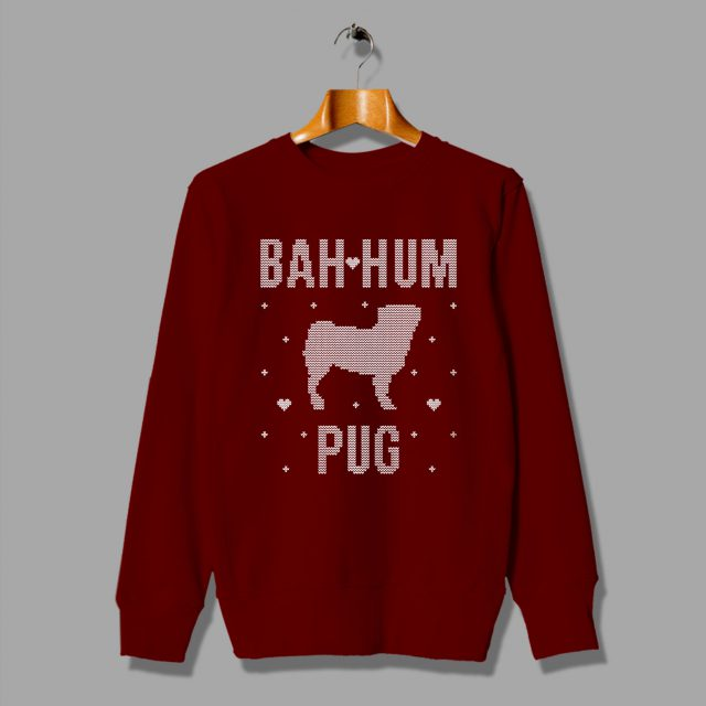 Cheap Bah Hum Pug Christmas Ugly Sweater