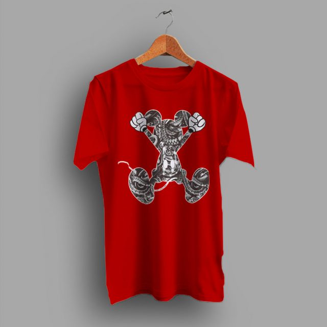 Cheap Mickey Mouse Snake Pattern Hype T Shirt