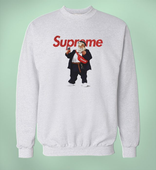 Cheap Santa Claus Supreme Selfie Christmas Sweatshirt