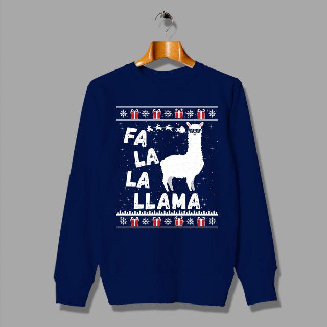 Fa La La Llama Unisex Ugly Christmas Sweatshirt