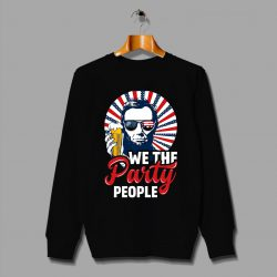 Funny Abraham Lincoln We The Party People Christmas Sweater