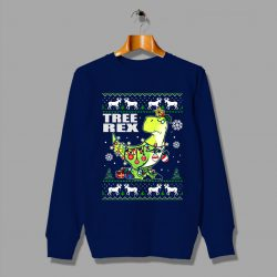 Funny Dino Christmas Tree Rex Ugly Sweatshirt