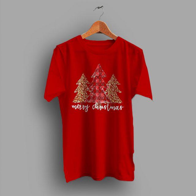 Merry Christmas Cheetah Print Buffalo T shirt