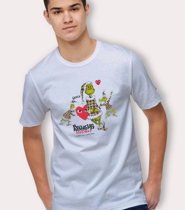 Play Grinch Comme Des Garcons Christmas T Shirt