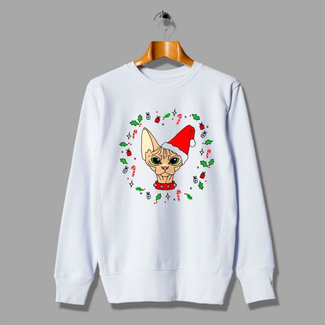 Christmas Sweaters Cute.Sphynx Cat Cute Ugly Christmas Sweater