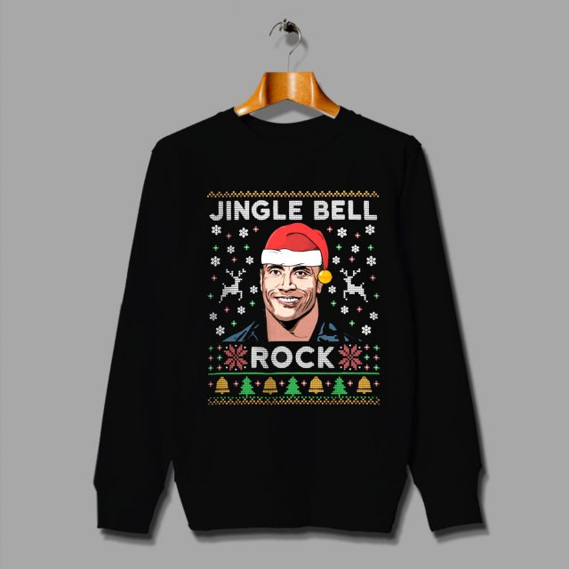 The Rock Jingle Bell Ugly Christmas Sweater