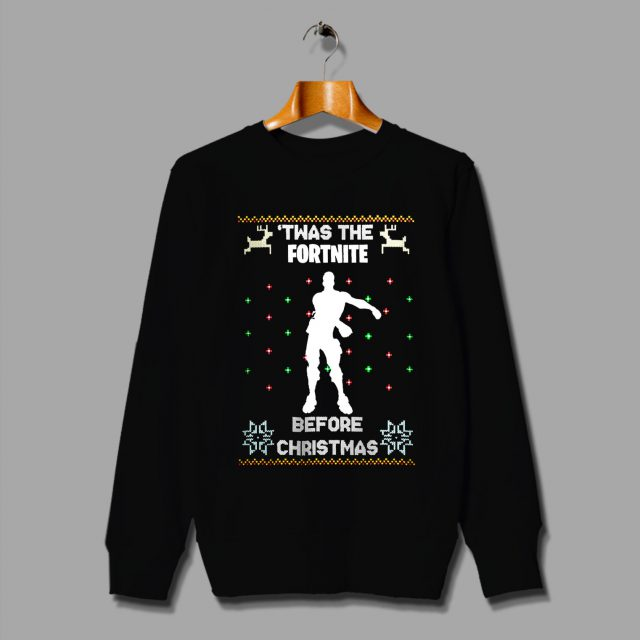 Christmas Ugly Sweater.Twas The Fortnite Before Christmas Ugly Sweater