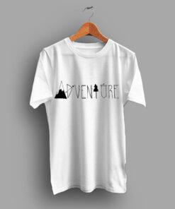 Adventure Font Cheap Simple T Shirt