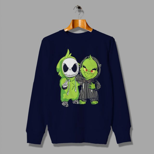 Baby Grinch and Jack Skellington Sweatshirt