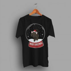 Black Cat Merry Christmas Funny Gift T Shirt