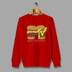 Cheap Music Television Burger Logo Sweatshirt