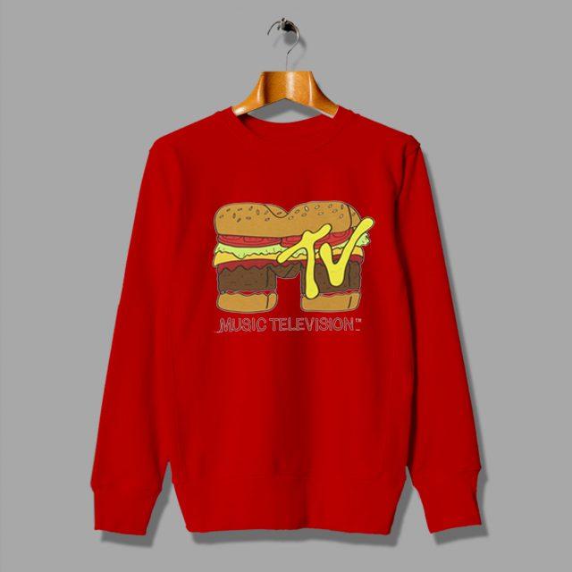 Cheap Music Television Burger Logo Sweatshirt