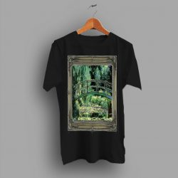 Classic Art Claude Monet Lily Pond Painting T Shirt