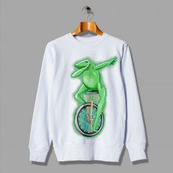 Dabbing Frog Unicycle Cute Dat Boi Sweatshirt
