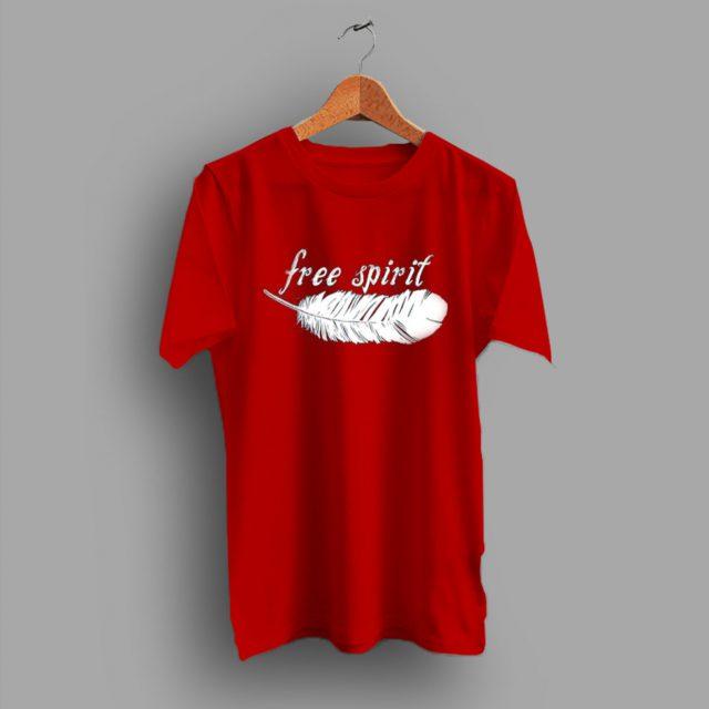 Free Spirit Feather Racerback T Shirt