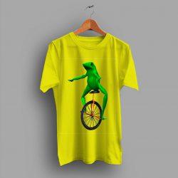 Frog Unicycle Dat Boi Dank Funny Unisex T Shirt