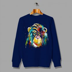 Full Colors Facepalm Monkey Psychedelic Sweatshirt