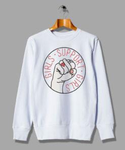 Girls Support Girls Feminist Mother Day Sweatshirt