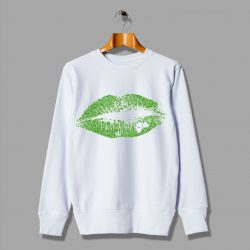 Irish Green Lips Kiss Sweatshirt