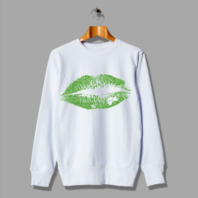 Irish Green Lips Kiss Sweatshirt