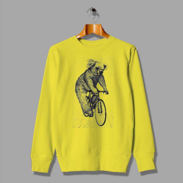 Koala Cheap on a Bicycle Sweatshirt