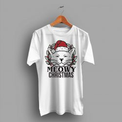 Meowy Christmas Cat T Shirt