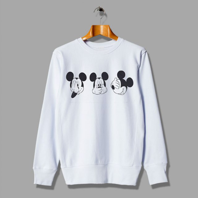Mickey Mouse Cute Cheap Expression Sweatshirt