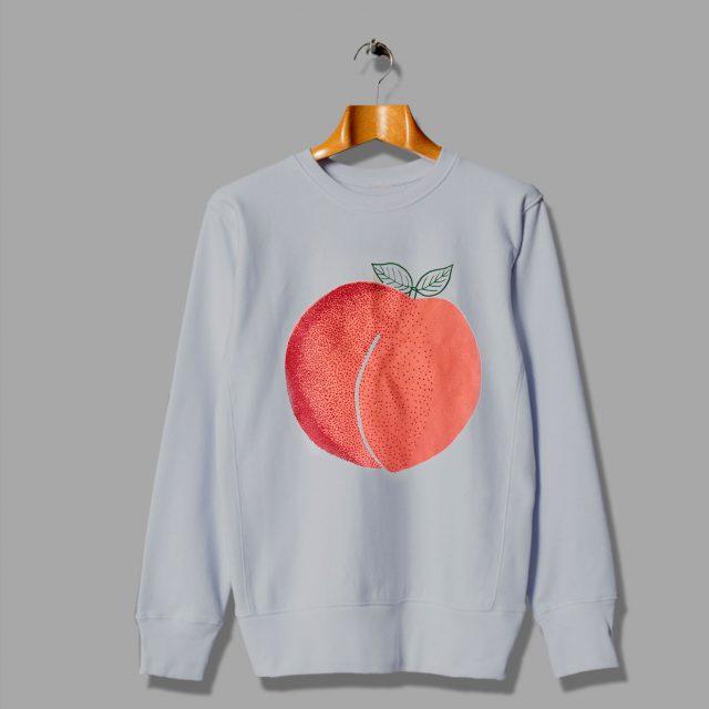 Print Screen Peach Foodie Gift Sweatshirt
