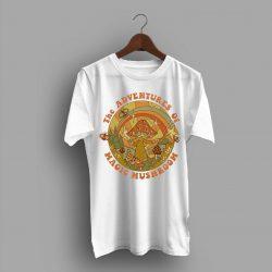The Adventures of Magic Mushroom Cheap Retro T Shirt