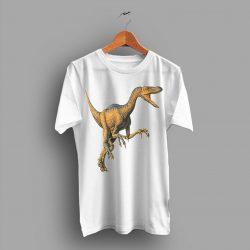 Velociraptor Jurassic Clever Girl Cute Illustrated T Shirt