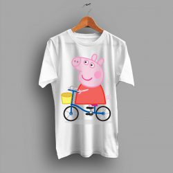 Woman Peppa Pig Cute on Bycicle T Shirt